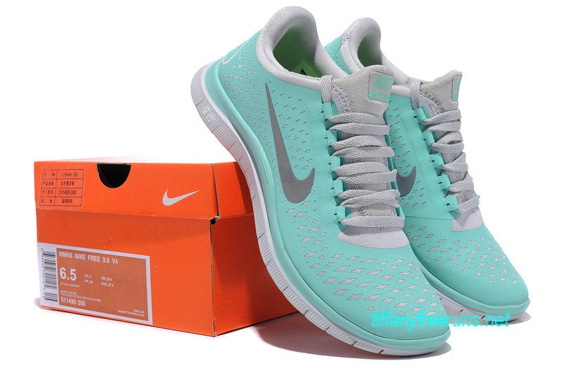 78f3ac9d2a98 Tiffany Free Runs Blue Nike 3.0 V4 Womens Blue White Silver 511495 300 only  49.00 on this site!