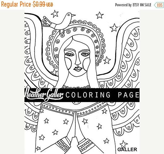 Off Today Angel Coloring Folk Art Book Adult