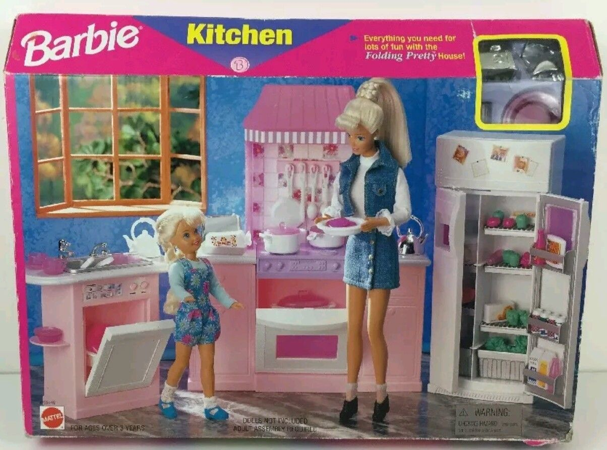 Mobili Barbie ~ Gloria buffet hutch set barbie sized playset gloria