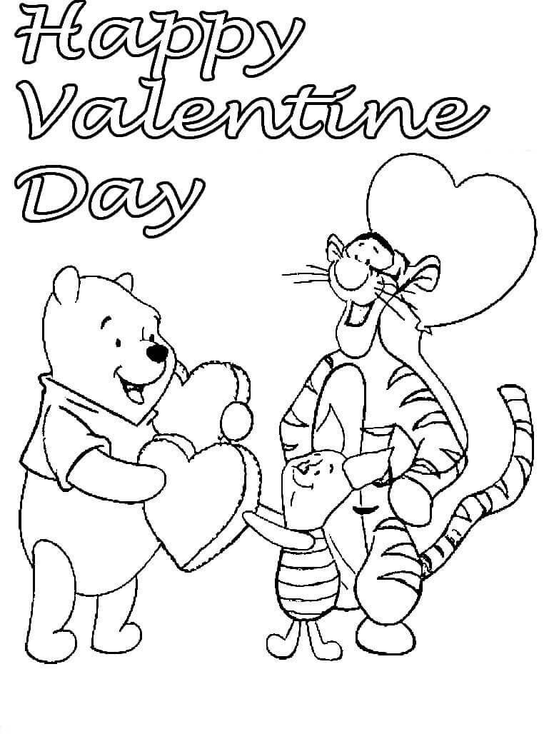Disney Happy Valentines Day coloring pages Valentine