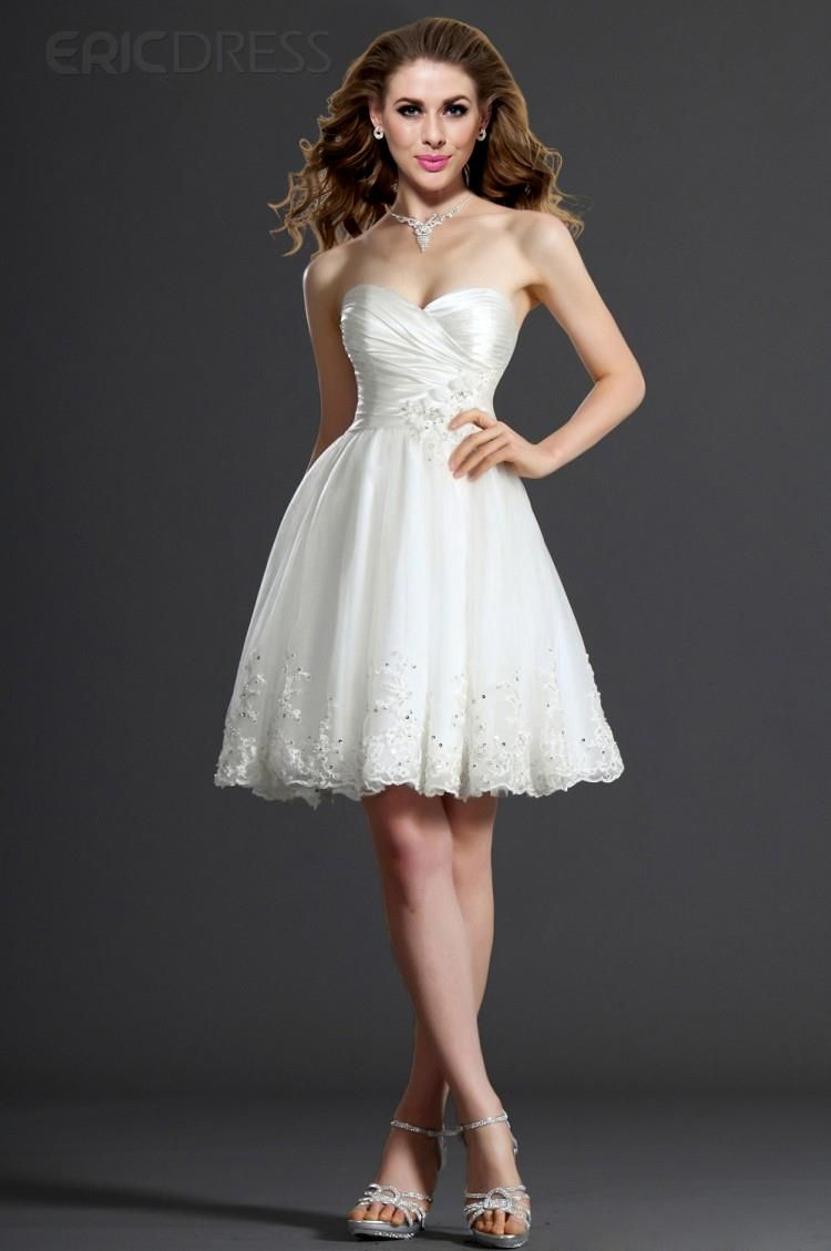 Semi formal dresses for wedding reception  Gorgeous ALine Sweetheart Appliques Flowers Charming Cocktail Dress