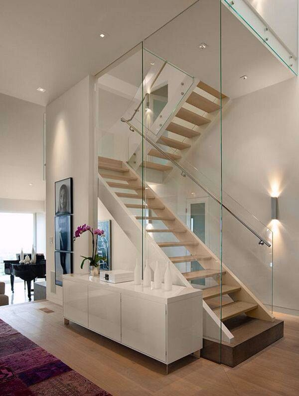 Stairs I like Hangar Pinterest Escalera, Vidrio y Escaleras