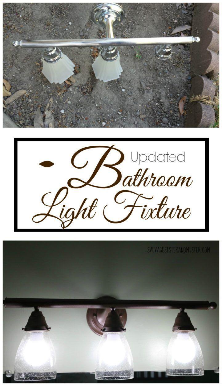 $100 Room Challenge – Updated Bathroom Light Fixture images