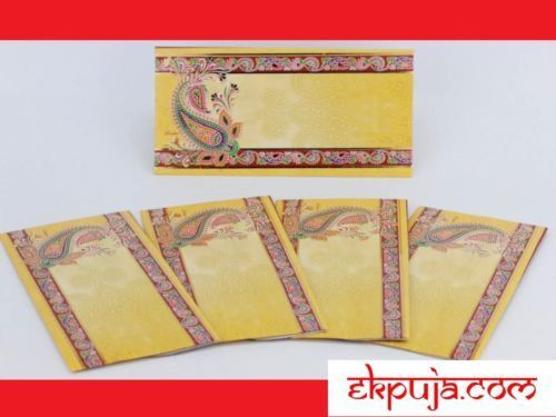 5 X Indian Wedding Money Envelopes Decorated Gift