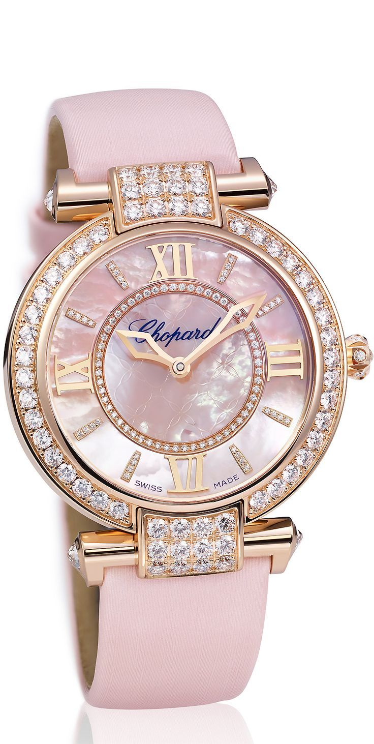imperiale watch with a pink mother of pearl dial diamond watches pinterest montre bijoux. Black Bedroom Furniture Sets. Home Design Ideas