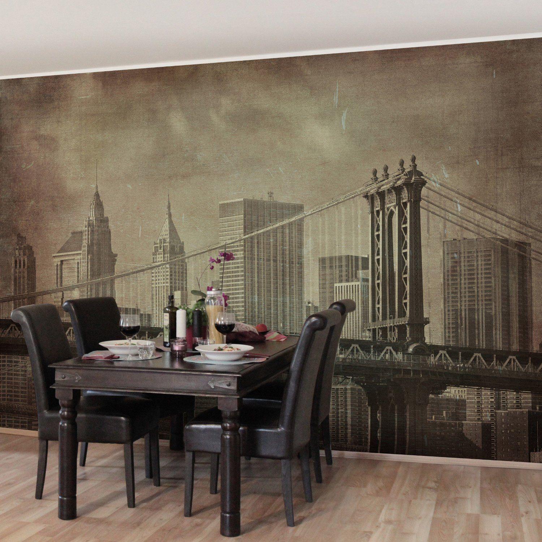 Fotomural - Vintage New York City - Wall Mural apaisado, papel ...