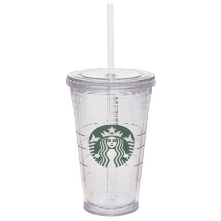 Starbucks 16 Ounce Clear Tumbler With Straw Clear Tumblers