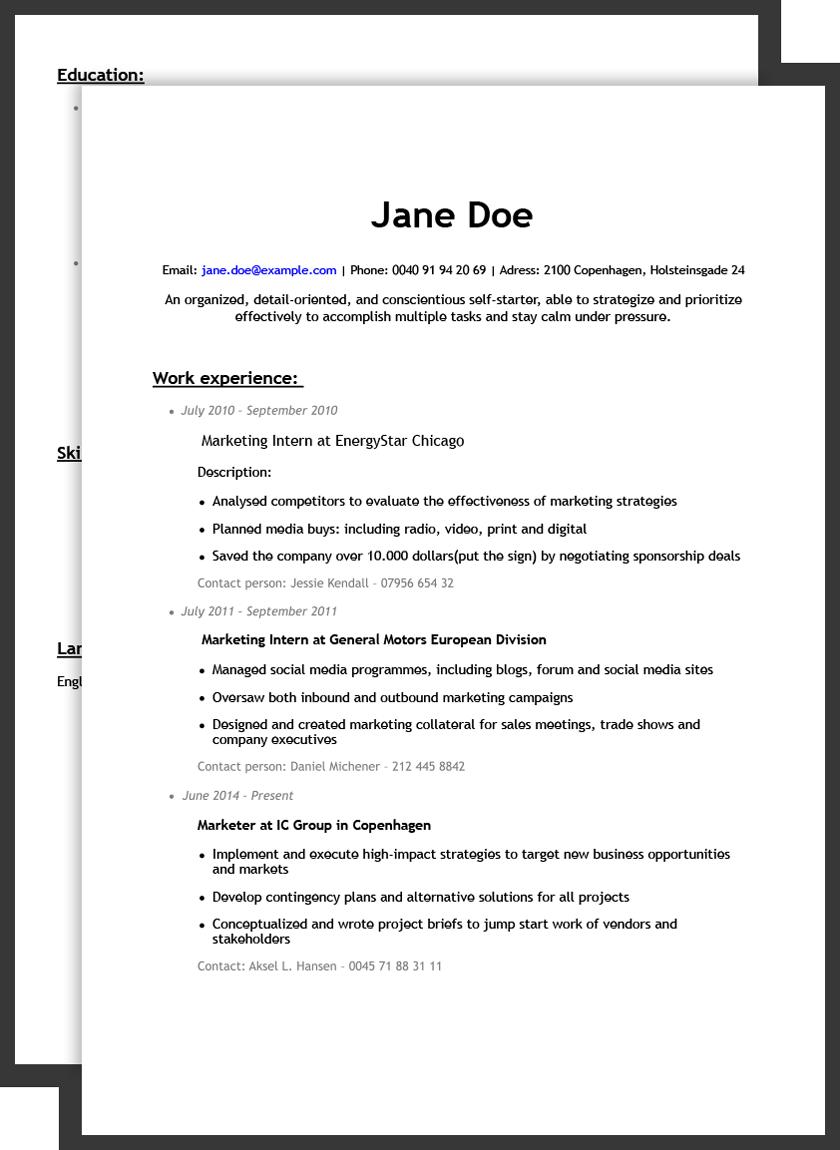 Bad résumé example Free resume builder, Resume, Resume