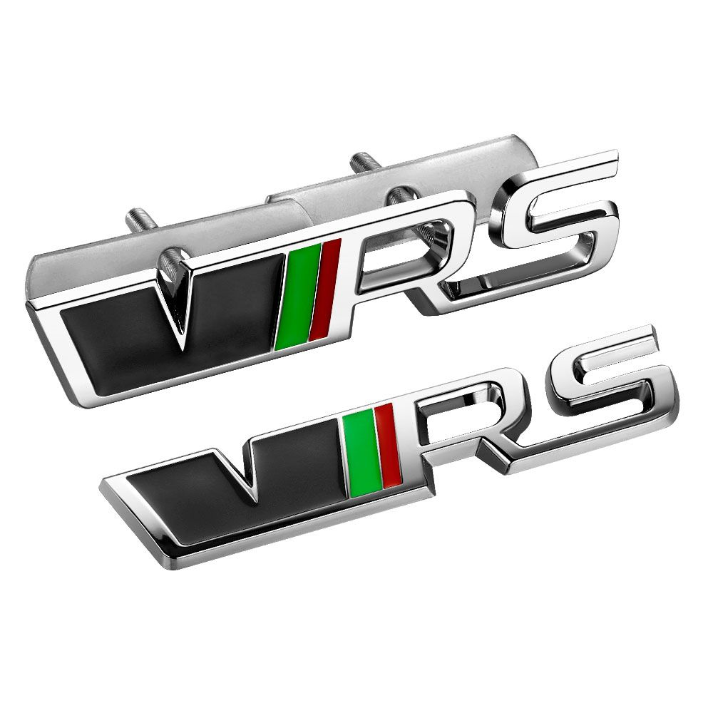 3d Metal Auto Car Vrs Grill Emblem Rear Trunk Sticker For Skoda