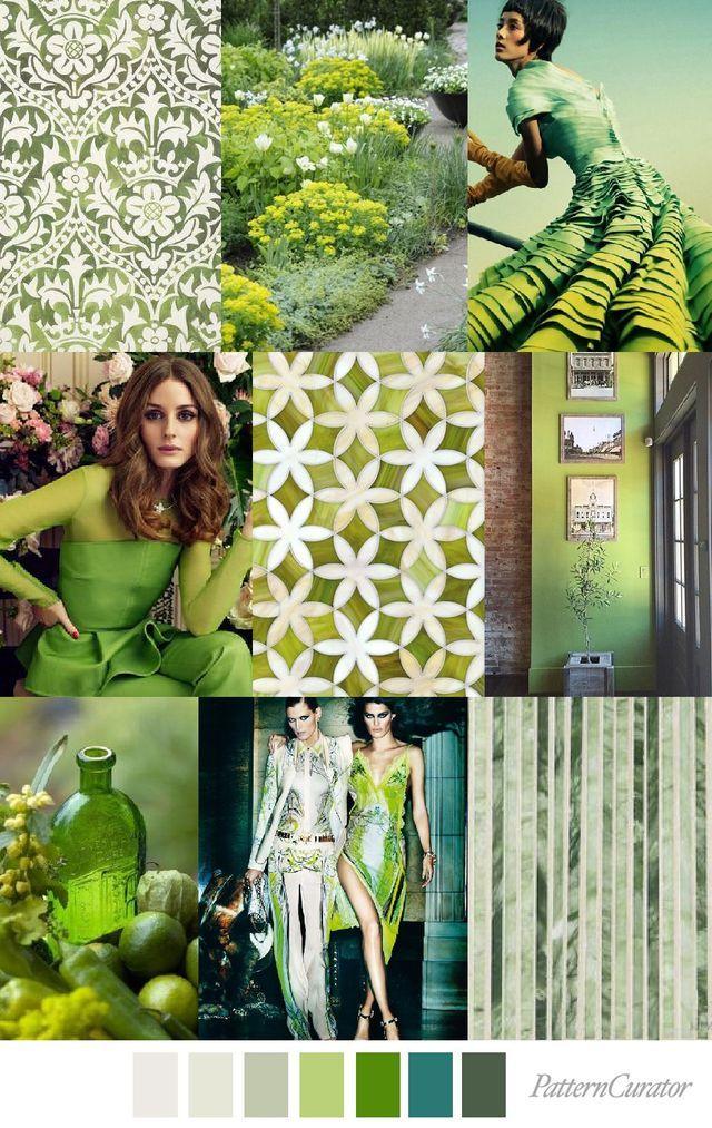 GREENERY SCENERY (pattern curator) | zomer - Kleuren ...