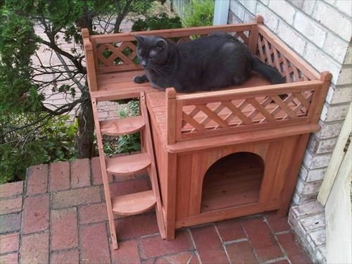 Wooden Pallet Cat House Pallets Designs Outdoor Cat House Diy