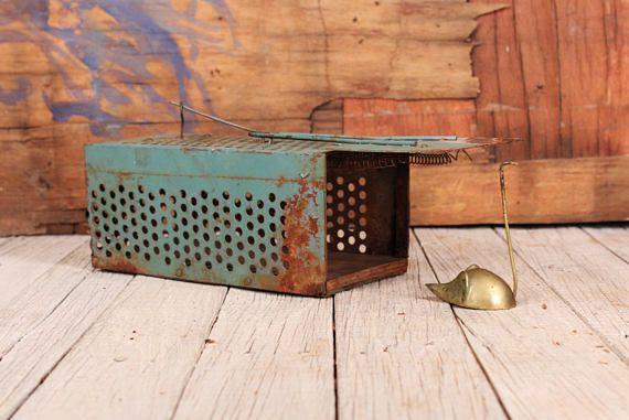 1960 S Mouse Trap Vintage Metal Mousetrap Primitive Mouse Trap Old Rat Trap Primitive Tool Old Mousetrap Home For Mouse Home Decor Vintage Metal Mouse Traps Rustic Metal