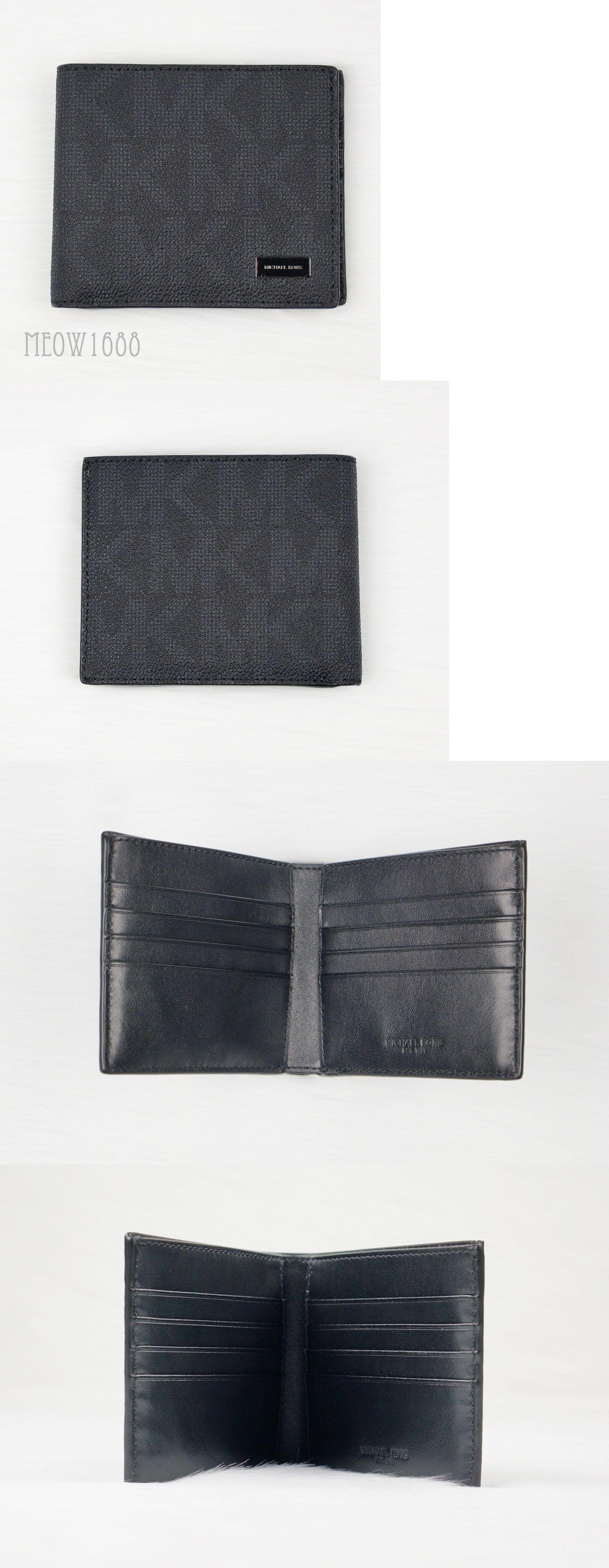 1757dd3f50cdd7 Wallets 2996: New Authentic Michael Kors Men Jet Set Black Logo Bifold Billfold  Wallet $118 -> BUY IT NOW ONLY: $47.77 on eBay!