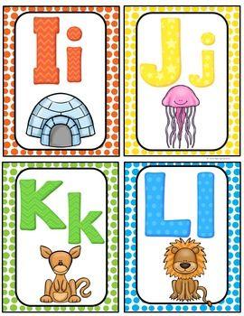 Alphabet Word Wall Cards Abc Chart Alphabet Word Wall Cards Alphabet Word Wall Word Wall Cards