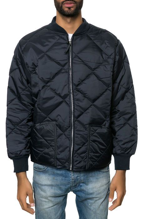 The Rothco Diamond Nylon Quilted Flight Jacket in Navy by Rothco ...