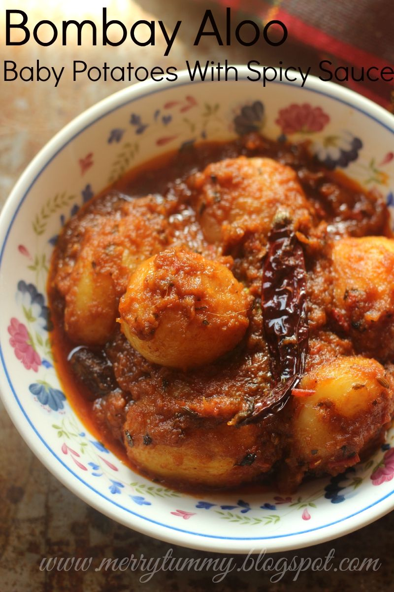 Merry tummy bombay aloo baby potatoes cooked with spicy sauce food forumfinder Image collections