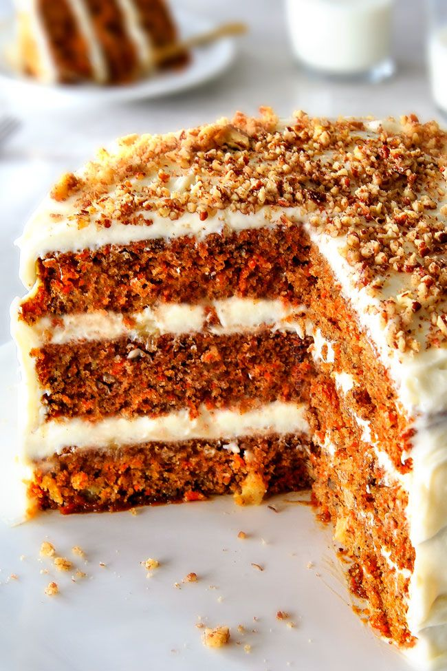 Layered Carrot Cake With Pineapple Cream Cheese Frosting This Is The Best Carrot Cake Recipe I Will Never M Carrot Cake Recipe Cake Recipes Best Carrot Cake