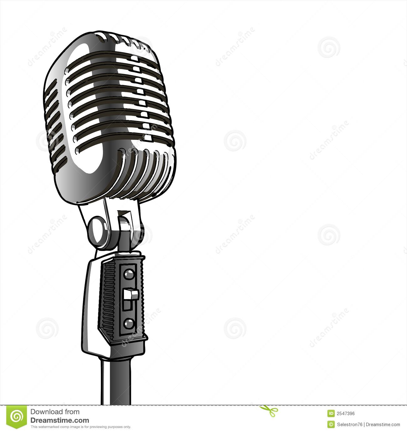 Vintage Microphone - Vector Royalty Free Stock Image ...