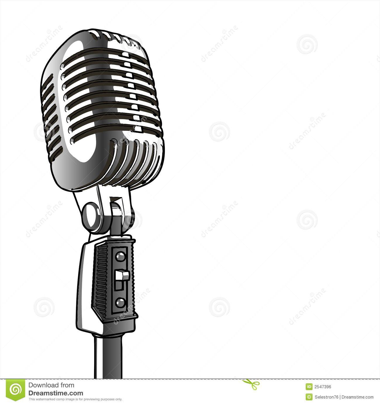 Vintage Microphone vector Vintage microphone