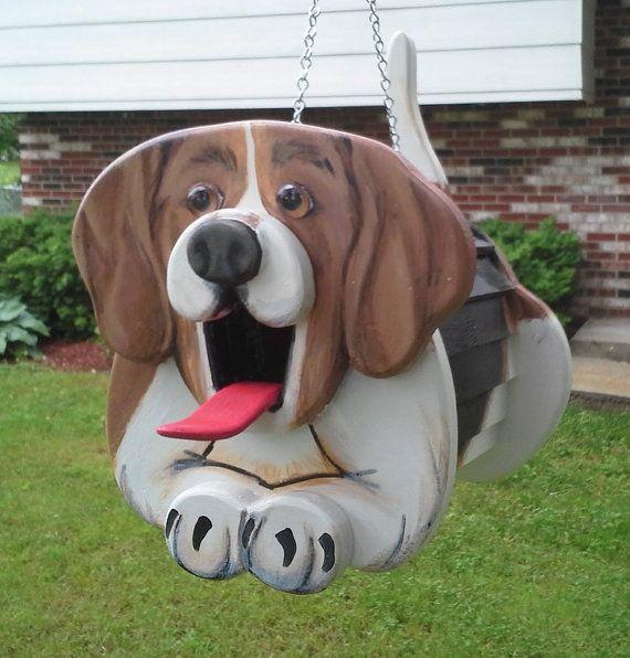 Beagle Dog Birdhouse Or Feeder By Mycountryhaven On Etsy 60 00