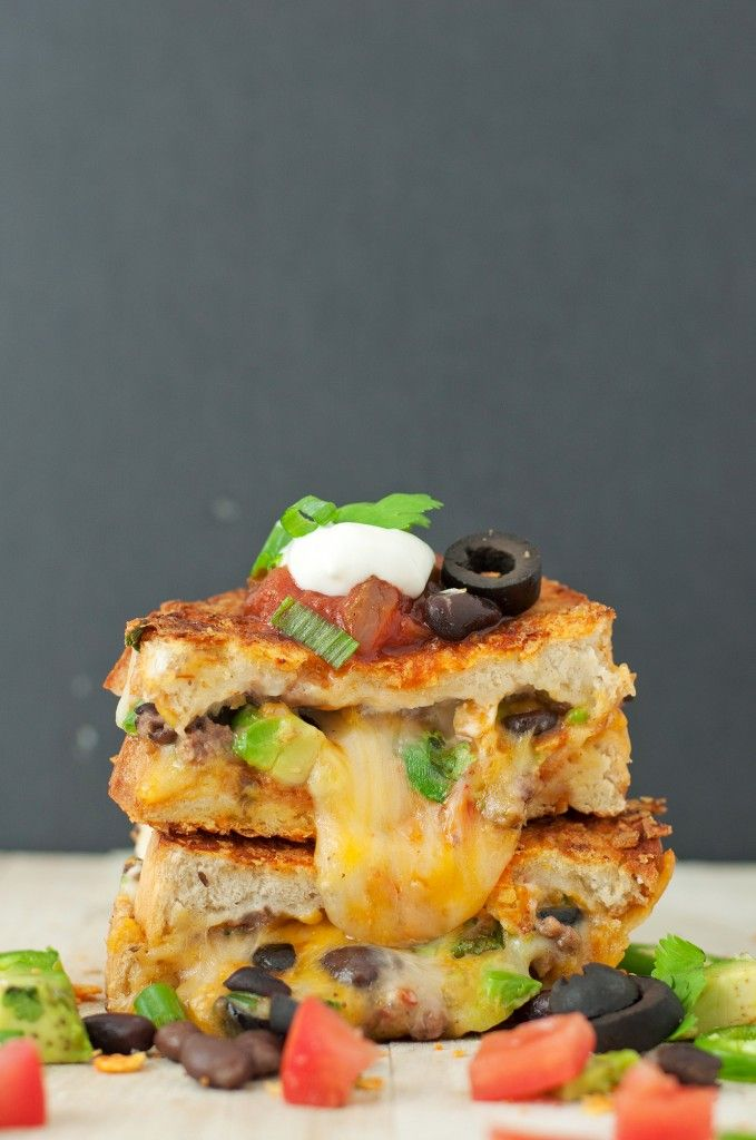 """The Loaded Nacho """"Game Day"""" Grilled Cheese"""