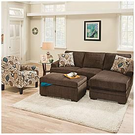 Simmons Reversible Chaise Sofa Tidafors Corner Review Sunflower Brown With Big Lots My