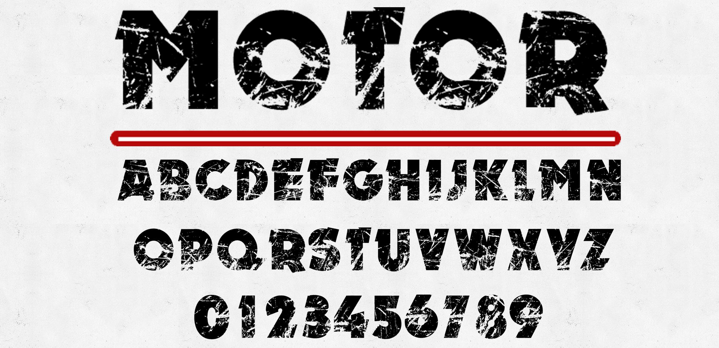 An original eroded font