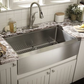 Charleston 30 L X 20 W Farmhouse Kitchen Sink With Basket