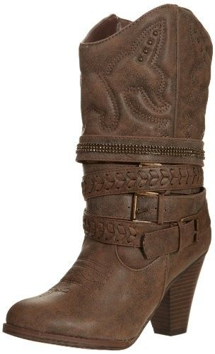 MIA Women's Londonn Western Boot,Brown,7.5 M US - Boots