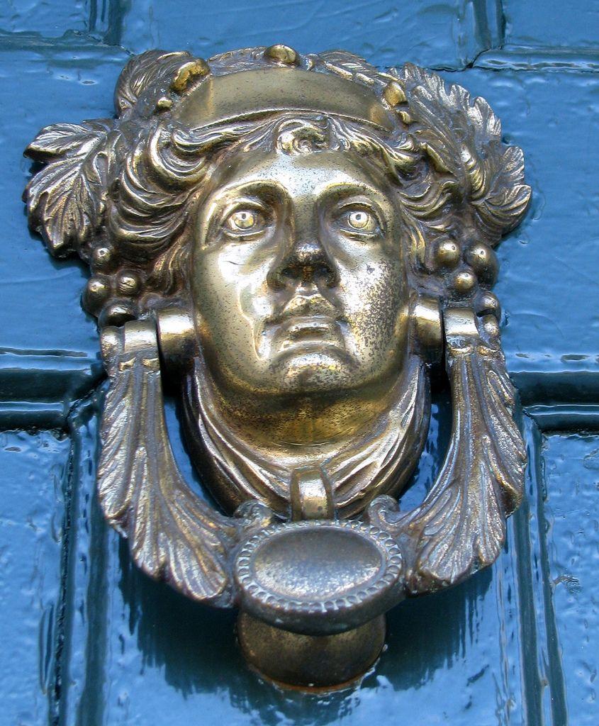 Door knocker at uniacke estate nova scotia canada