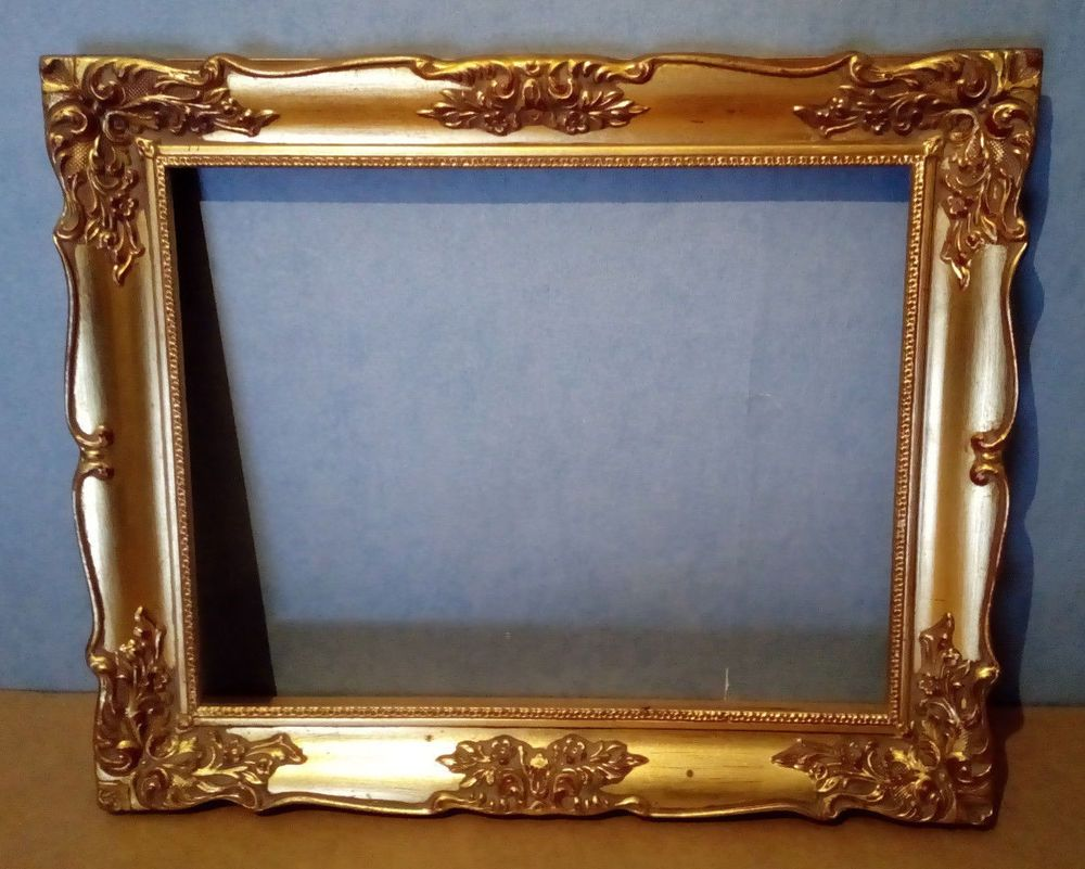 Antique Style Gilt Coloured Picture Frame 14x11 (H45)   Country ...