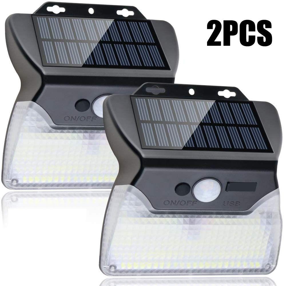 110 Led Solar Powered Pir Motion Sensor Wall Light In 2020 Solar