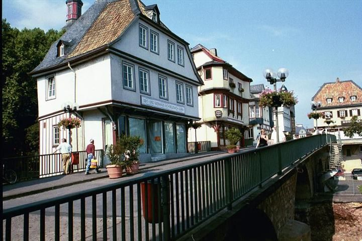 Bad Kreuznach, Faust Haus Bei Der Wilhelmbrücke (Faust House Next To The  Wilhelm Bridge) | Travel Photography And Bridge