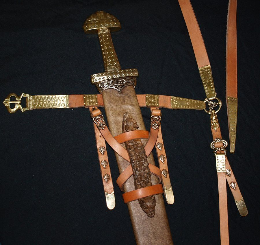 Viking sword scabbard