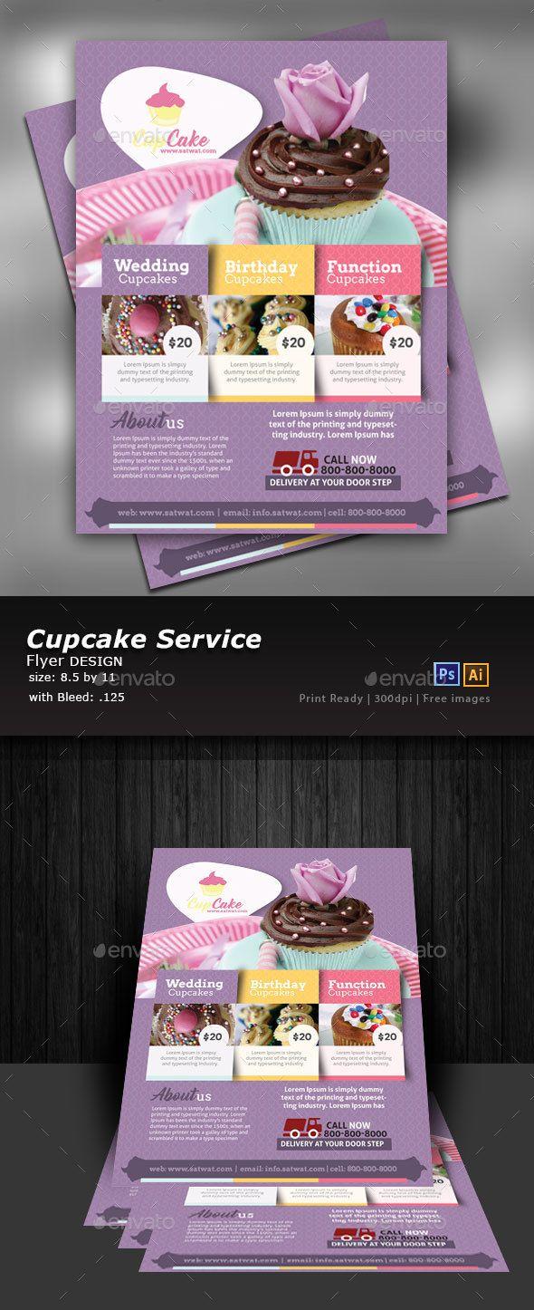 Advertising Cupcake Flyer Template