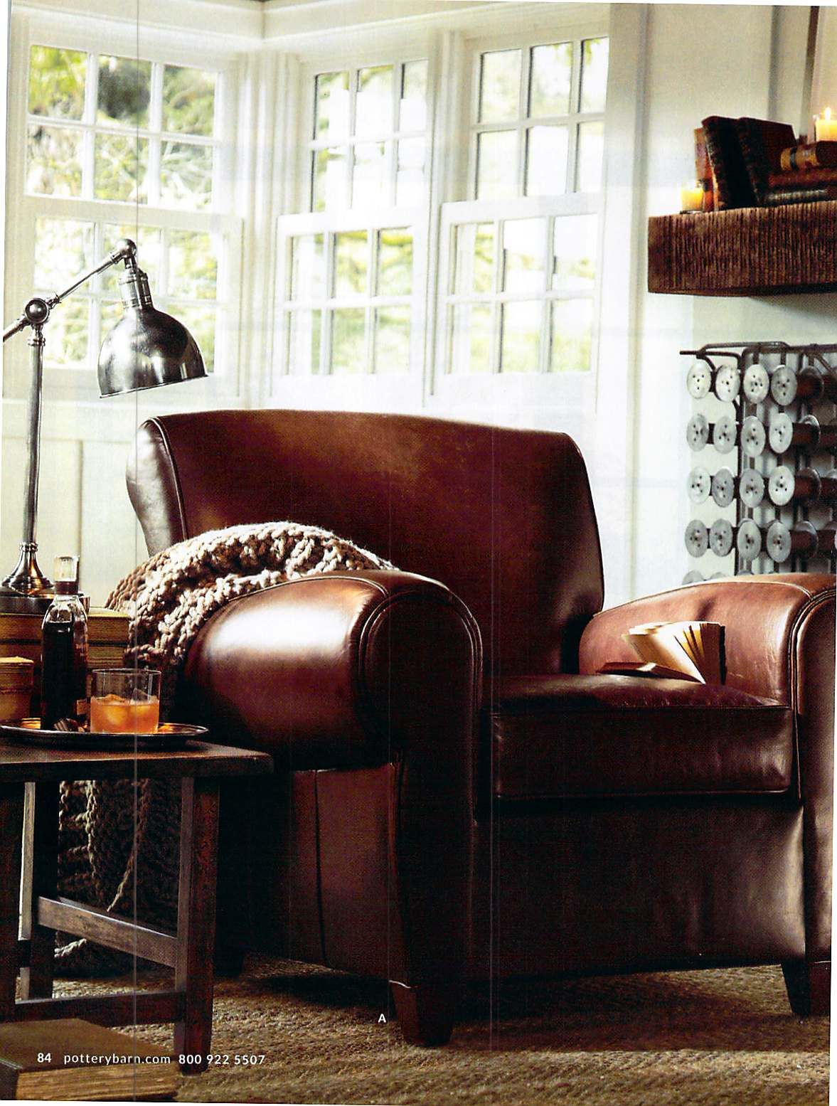 Pottery Barn March 2013 love the shelf on the wall. looks