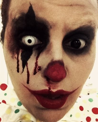 My Version Of A Creepy Clown Creepy Clown Makeup Halloween Makeup Diy Scary Clown Makeup