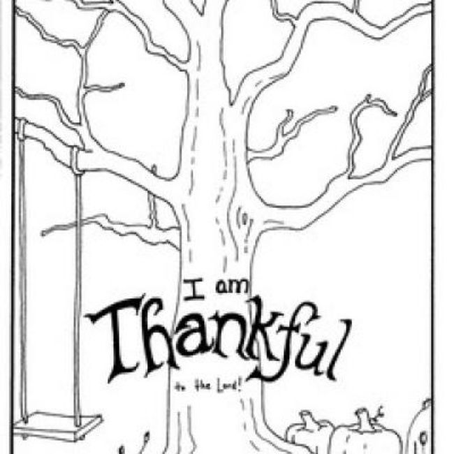 I Am Thankful Coloring Page Thanksgiving Preschool