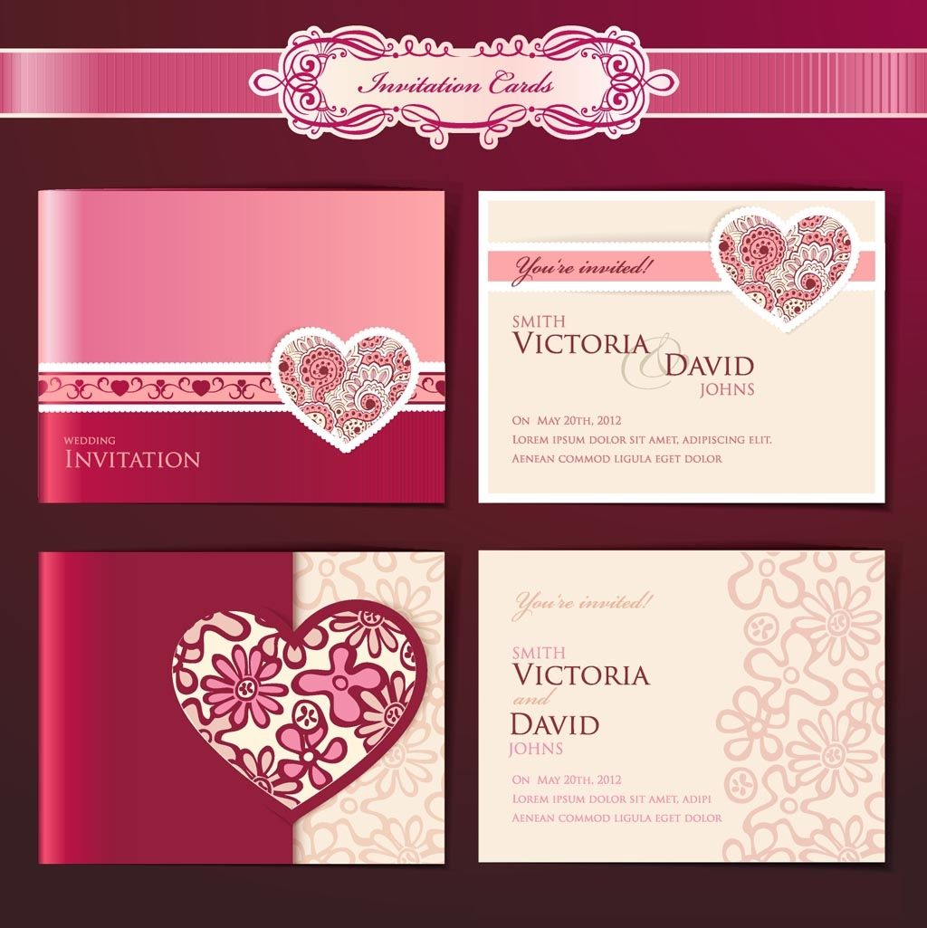 wedding invitation design templates   wedding invitation templates, Wedding invitations