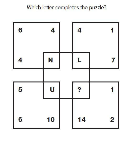 Iq Test Question   Which Letter Is Needed Answer WwwIqcatch