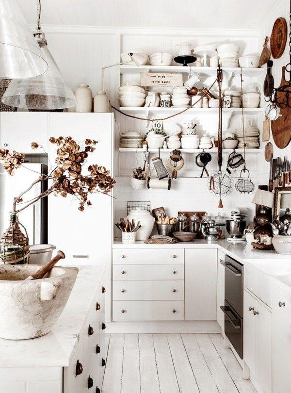 shabby chic kueche weisse kueche einladend | Küche Möbel - Küchen ...