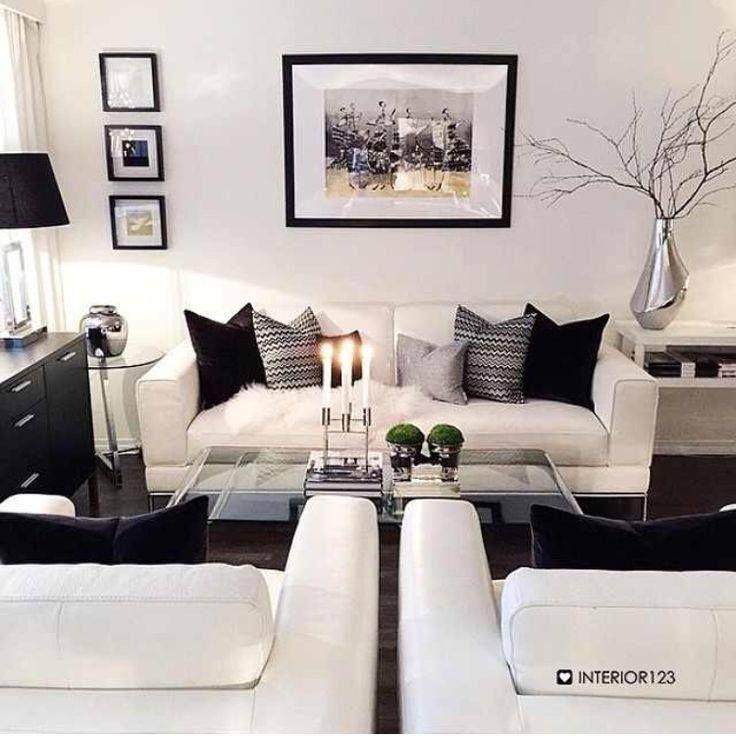 Decoracion de salas en Blanco y Negro | Pinterest | Organización del ...