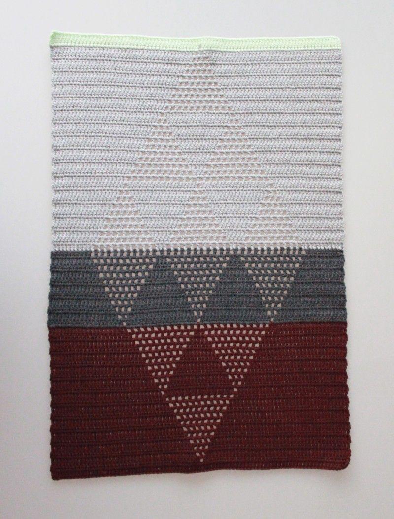 Crochet Guesttowels with harlekin-pattern // Hæklede Gæstehåndklæder ...
