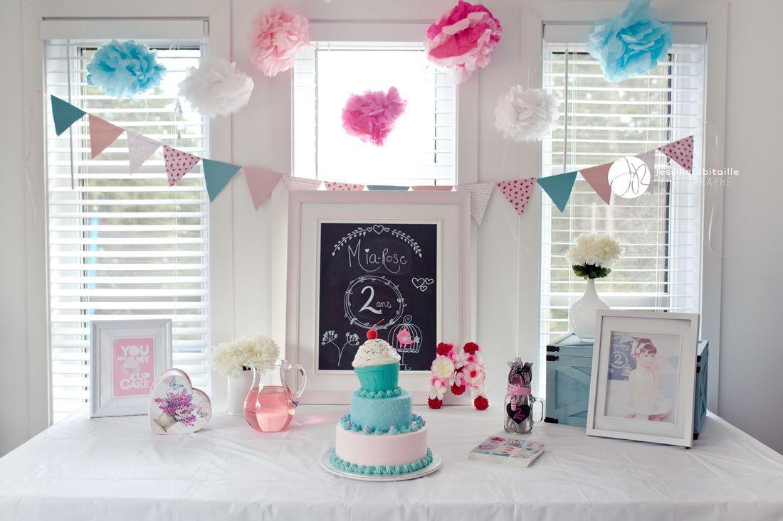 D coration f te d 39 enfants chalkbord diy fanions pompons g teau g teau d 39 anniversaire - Decoration cupcake anniversaire ...
