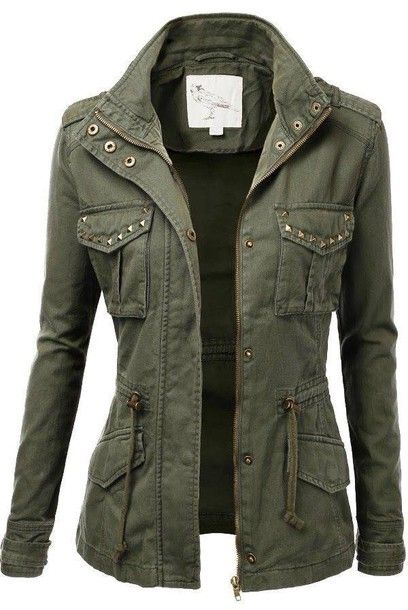 Get The Coat Wheretoget Military Jacket Women Military Jacket Green Jackets For Women