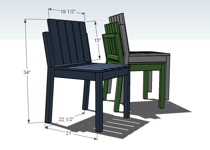 Ana White | Build a Simple Stackable Outdoor Chairs ...