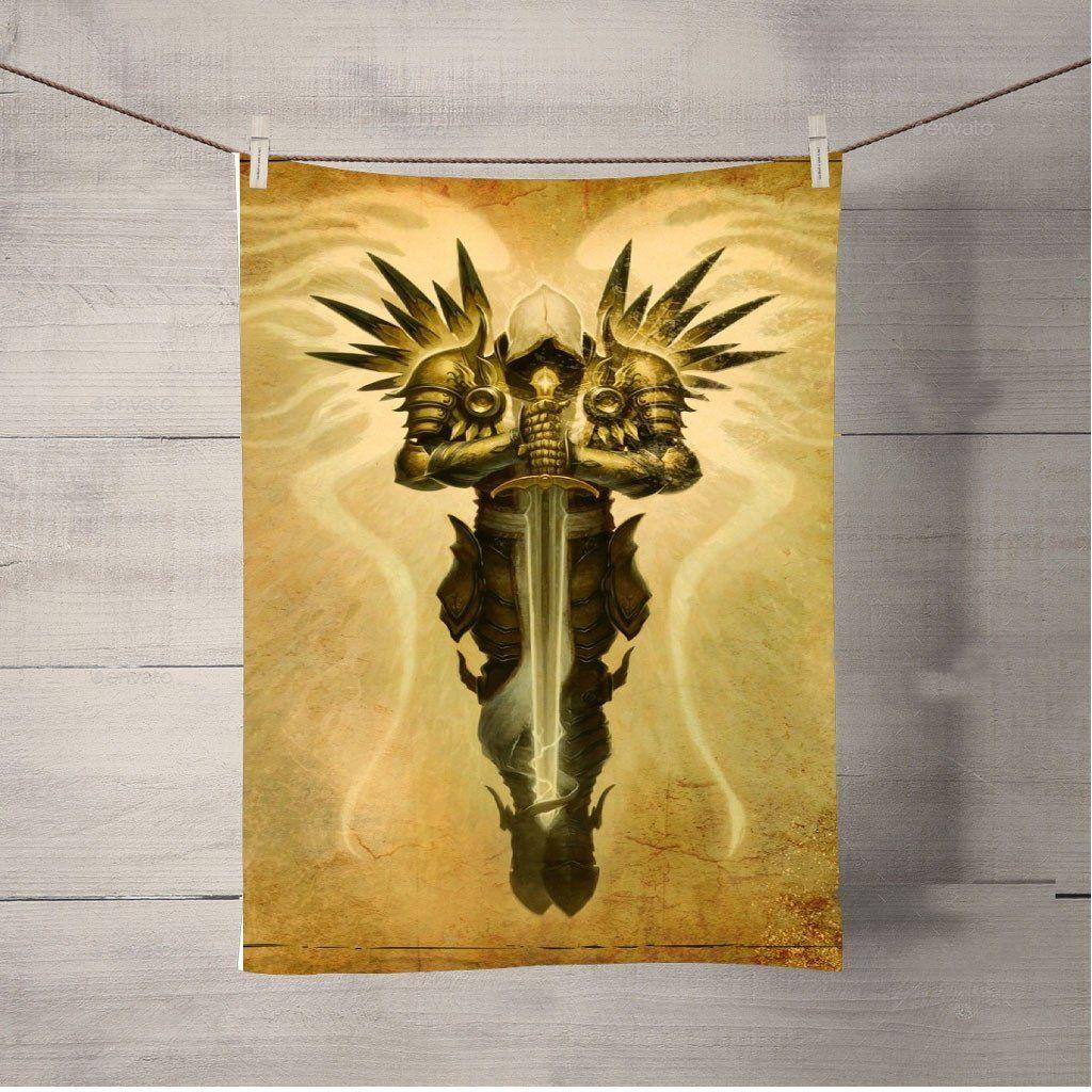 Diablo Iii Tyrael Bath Towel Beach Towels | Products | Bath