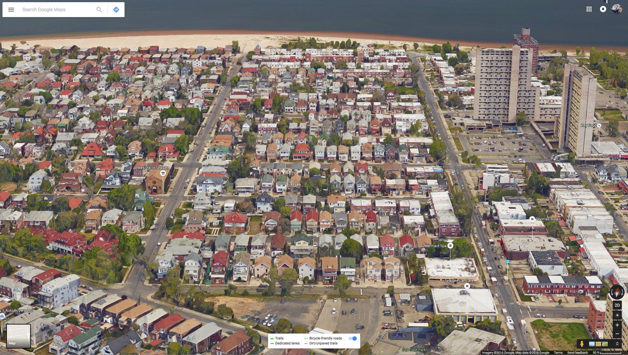 Seagate, Brooklyn. | Gated community, City photo, Aerial