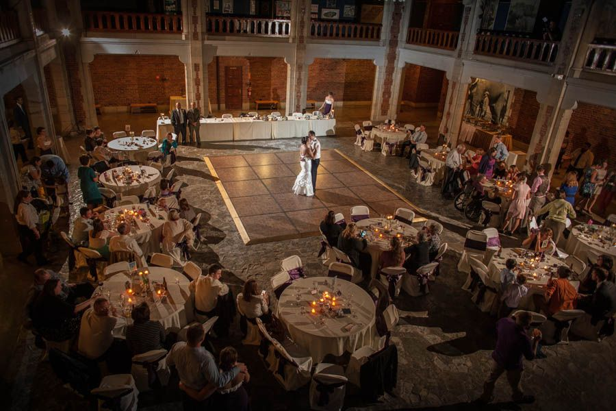 Wedding Photography Reception In The Great Hall At Toledo Zoo