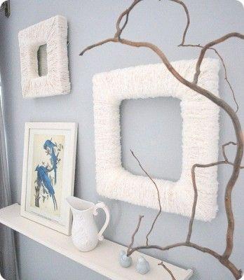 yarn wrapped frames | Crafts | Pinterest | Yarns